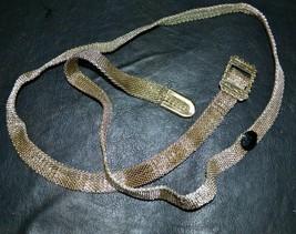 Antique Vintage Art Deco Metallic Woven Women's Belt - $29.55