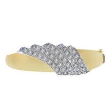 5.00 Carat Round Cut Diamond Vintage Bangle Bracelet 14K Yellow Gold - $4,355.01