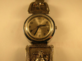Cool 1974 Large 38MM Marine Corps Timex Automatic Day Date Watch Running - $195.00