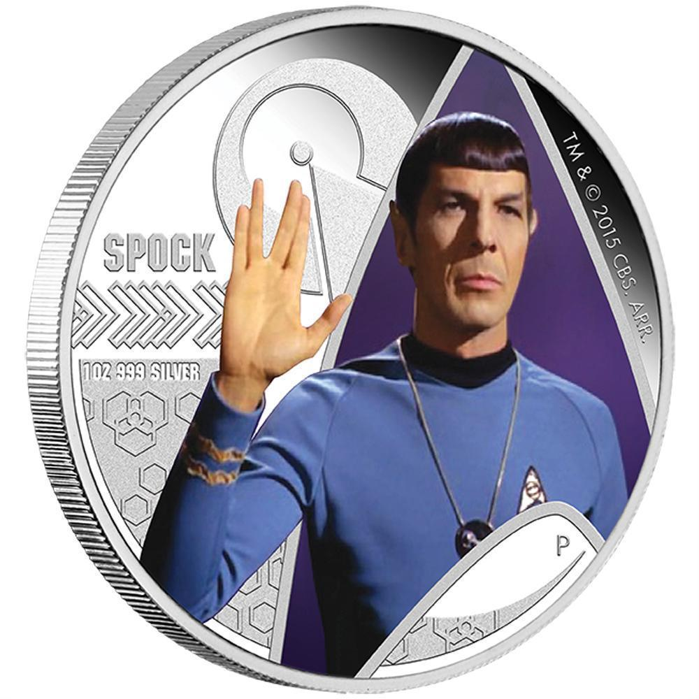 2015 P Star Trek Spock 1oz .999 Silver Proof Coin In Original Mint Packaging UNC