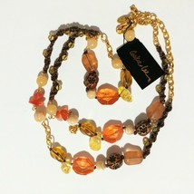 """Boho Necklace Long 36"""" Hand Knotted Macrame Hippie NWT Cookie Lee     - $12.87"""