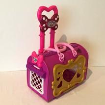 Disney Store Minnie Mouse Vet Center Pet Carrier Suitcase Style Extending Handle - $24.99
