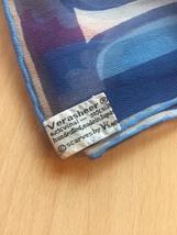 "Vintage 60s Vera Neumann ""Verasheer"" rectangular scarf (Red, White & Blue) image 4"