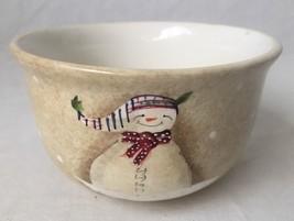 "Sakura Snowmates Cereal Soup Bowl Debbie Taylor Kerman 6"" Ivory Tan 24 oz - $11.95"