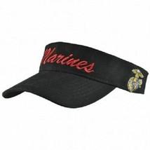 USMC Marines Black and Red EGA Letter Visor Cap Hat Premium - $21.77