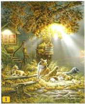Our Friends Dog Cat Farm Life Terry Redlin 100 pc Bagged Boxless Jigsaw ... - $10.00