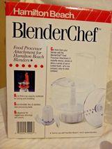 Hamilton Beach  blender Chef Food Processor Chopper Mixer Attachment 70900 image 4