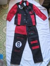 Children's Machine Gun Outfit Pants 7 Shirt XL Red Green Rough Rider 8 Ball Kids - $60.00