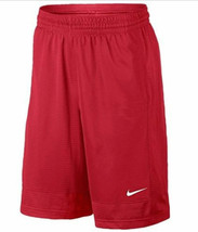 Nike New Youth Boy's Nike Red basketball athletic mesh shorts size med kids - $22.50