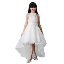 PANDA SUPERSTORE Elegant Girl's Princess Dress Floor-Length Wedding Dress (White