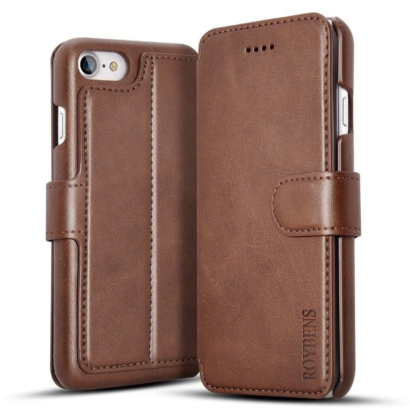 Roybens® For iPhone 8 Leather Case Business High Quality PU Leather Card Slot