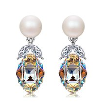 """Princesse de Monaco"" Bowtie Dangle Earrings with Swarovski Crystals. Je... - $59.95"
