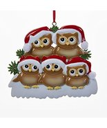 Kurt Adler Christmas Owl Family of 5 Ornament - $11.83