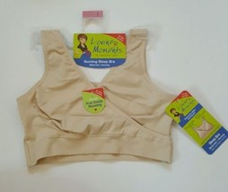 Loving Moments Nursing Sleep Bra Size Large NWT Nude Easy Pull Aside Nur... - $13.09