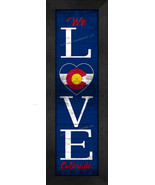 """LOVE Colorado"" State Pride With Flag 8 x 24 Framed Print - $39.95"