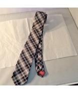 Chaps Youth Boy's Necktie New Black Gray White Skyblue Stripes - $9.99