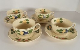 Adams China Titian Ware 1346b Cup and Saucer Set (s) LOT OF 4 Peaches Ch... - $47.47