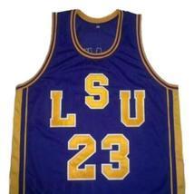Pete Maravich #23 College Basketball Jersey Sewn Purple Any Size image 1