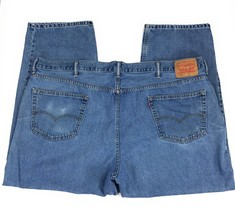 Levi's 550 Relaxed Fit Tapered Leg Red Tab 100% Cotton Blue Jeans Men's ... - $19.21