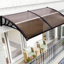 """80"""" x 40"""" OutdoorWindow Awning Door Polycarbonate Canopy-Brown - $86.79"""