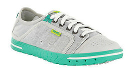 New Womens Teva Fus-ion Mesh Water Shoes Size 5.5 Grey/Green MSRP $80 - $37.39