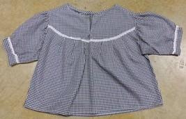 """Native American Girls Womens XL 44"""" Black White Checkered Shirt Seminole... - $24.99"""