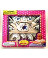 Miniature Tea Set Porcelain 13 Pieces Vintage Toy Doll Dishes Age 3+ - $18.80