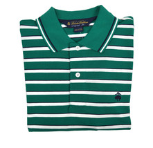Brooks Brothers Mens Green Woven Striped Original Fit  Polo Shirt Small S 3207-4 - $55.07