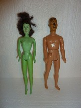 Vintage Wizard of Oz Dolls Wicked Witch & Scarecrow No Clothes  S-34 - $8.79