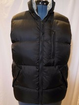 Old Navy Black / Grey Reversible Down Filled Puffer Vest S Small  Unisex - $13.85