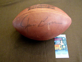 JIM BROWN CLEVELAND BROWNS HOF SIGNED AUTO VINTAGE WILSON NFL FOOTBALL JSA - $296.99