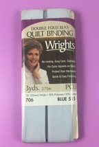 Wrights Double Fold Bias Quilt Binding 515 Blue 3 Yds Nip - $3.76