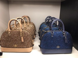 New Authentic COACH F22891 Sierra Satchel With  Star Glitter Bag Gold - $138.59