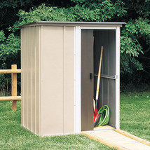 5x4 Steel Garden Backyard Storage Shed  w/ 93 cu Ft total Storage Tool S... - $323.49