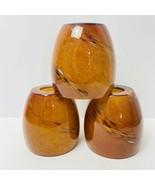 Drop Pendant Brown Glass Shades Set 3 Swirl Ceiling Light Handing Lamp  - $54.44