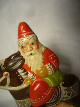 Vaillancourt Folk Art Rocking Santa Signed by Judi and Low Number image 5