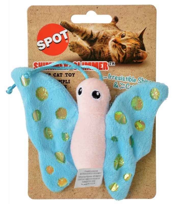 SPOT SHIMMER GLIMMER OR FELT CATNIP TOYS PLAY TURTLE BUTTERFLY FISH MOUSE image 3