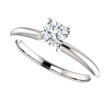 0.40 Carat H SI3 Ideal Cut Diamond Solitaire Ring - $499.00