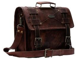 """18"""" Large Leather messenger bag for men shoulder bag mens Laptop bag - $61.11+"""