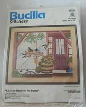 "NEW Bucilla Stitchery Kit A Circus Horse on the Porch 16""x20"" #49260 NIP - $44.99"