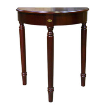 Dark cherry finish Crescent Half moon lightweight console accent Table 30″H - $28.66