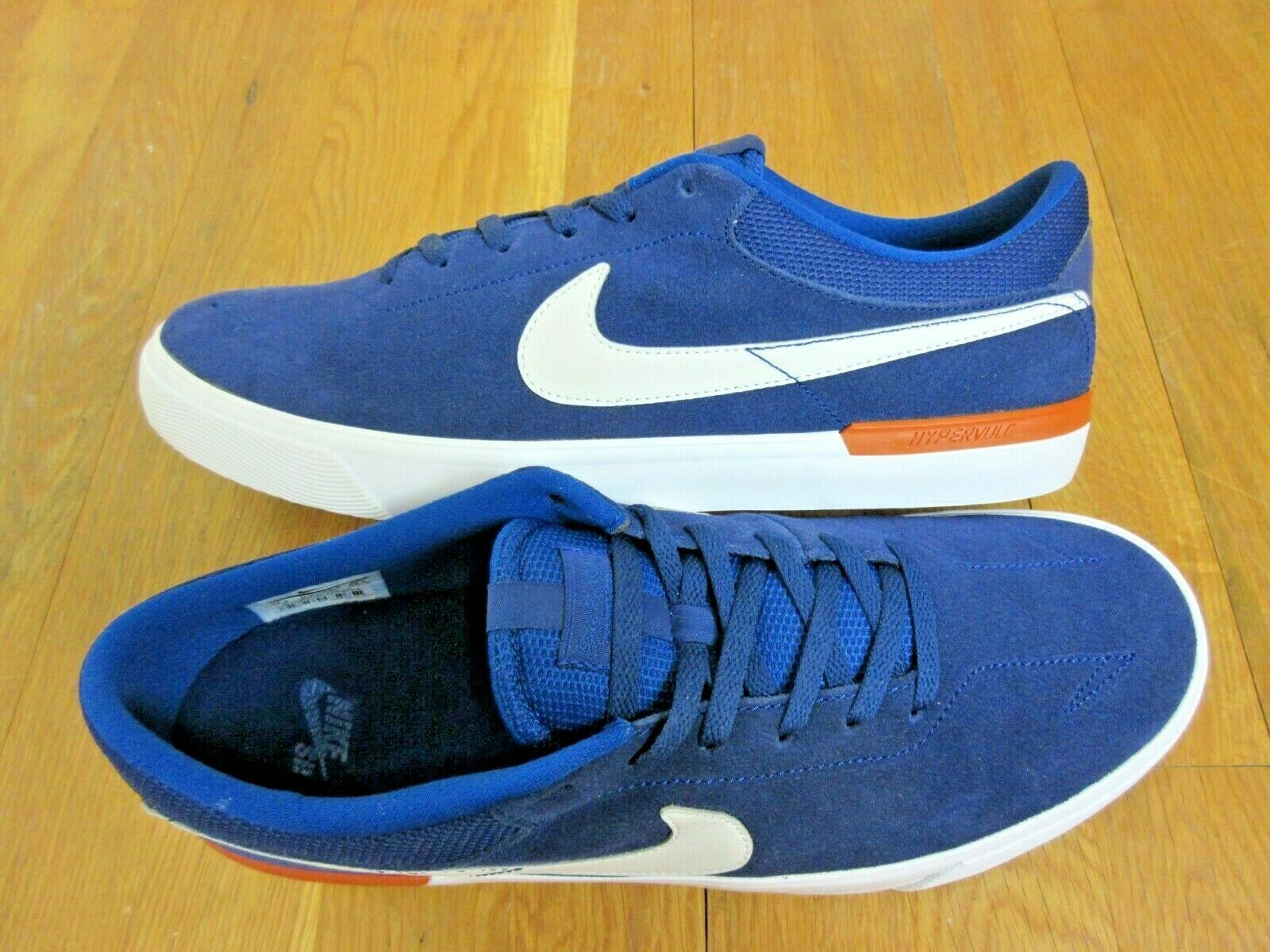 Nike SB Mens Koston Hypervulc Blue Void White Suede Skate Shoes Size 11.5 New