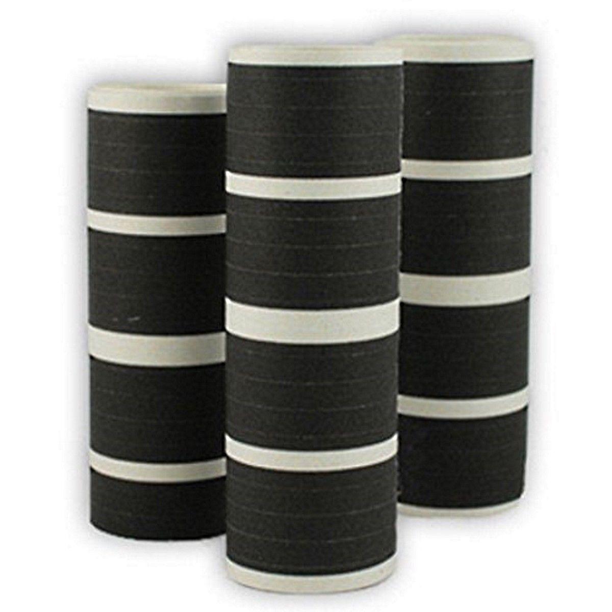 50 Rolls of Black  Serpentine Throws