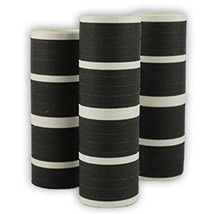 50 Rolls of Black  Serpentine Throws - $29.69