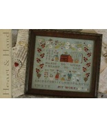 Heart and Hand cross stitch chart With Thy Needle Brenda Gervais  - $10.80