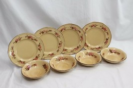 Franciscan Rosette Salad Plates and Soup Cereal Bowls Set of 8 - $42.63