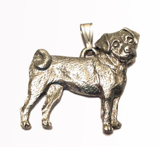 Puggle Pendant Dog Harris Fine Pewter Made in USA jewelry - $10.99