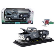 1958 Chevrolet Apache Stepside Truck Granite Gray 1/24 Diecast Model Car... - $51.53
