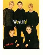 Westlife teen magazine pinup clipping Uk black pants shirt Teen Beat - $3.50