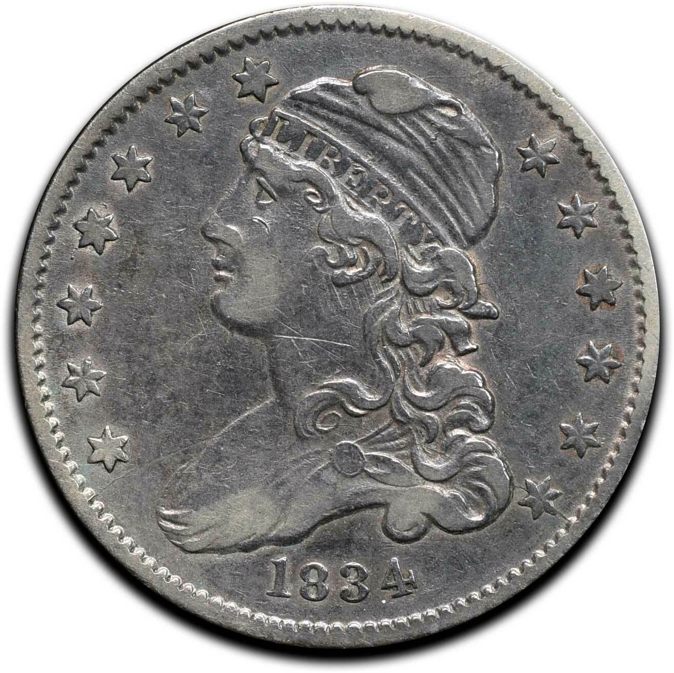 1834 Capped Bust Silver 25¢ Quarter Coin Lot# A 510